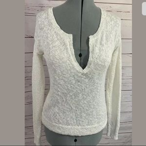 Athleta V-Neck Long Sleeve Knit Top